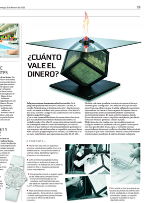 Amarist studio at La Razon magazine