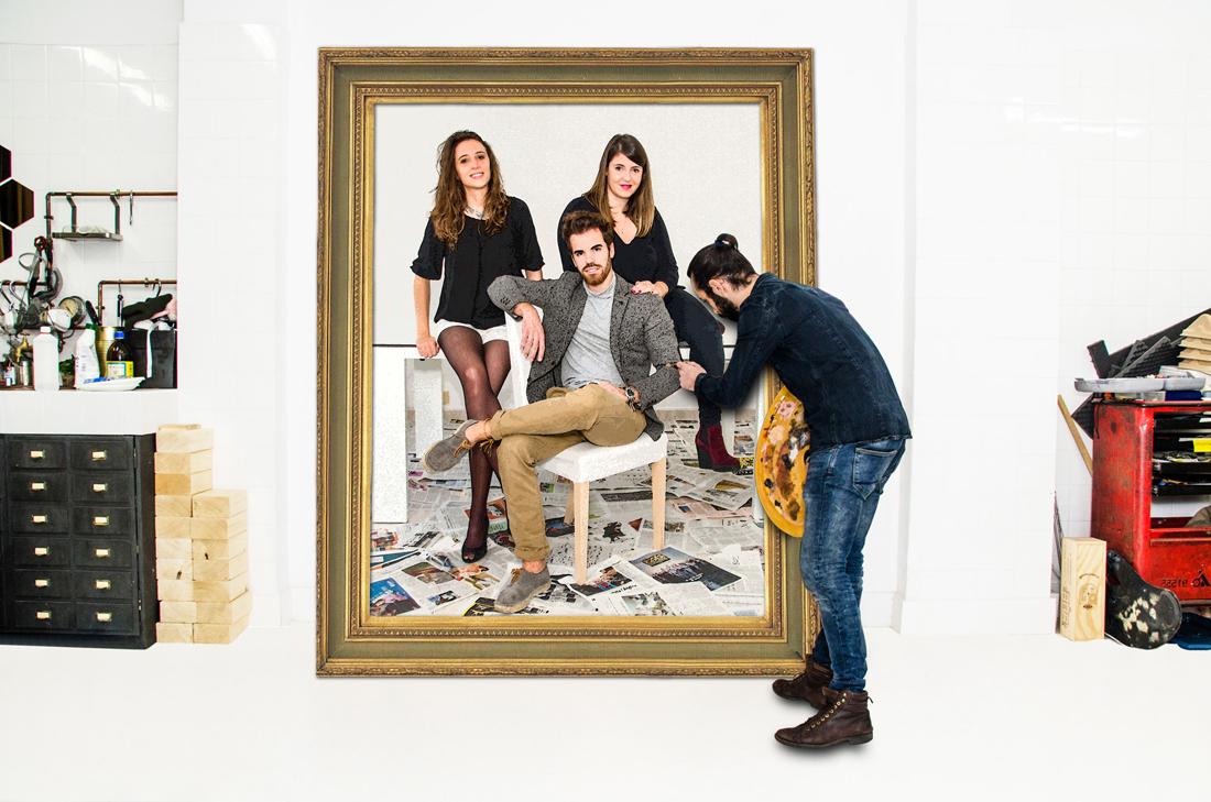 Amarist studio team Aran Lozano, Clara Campo, Sofia Leclair, Alejandro Monge