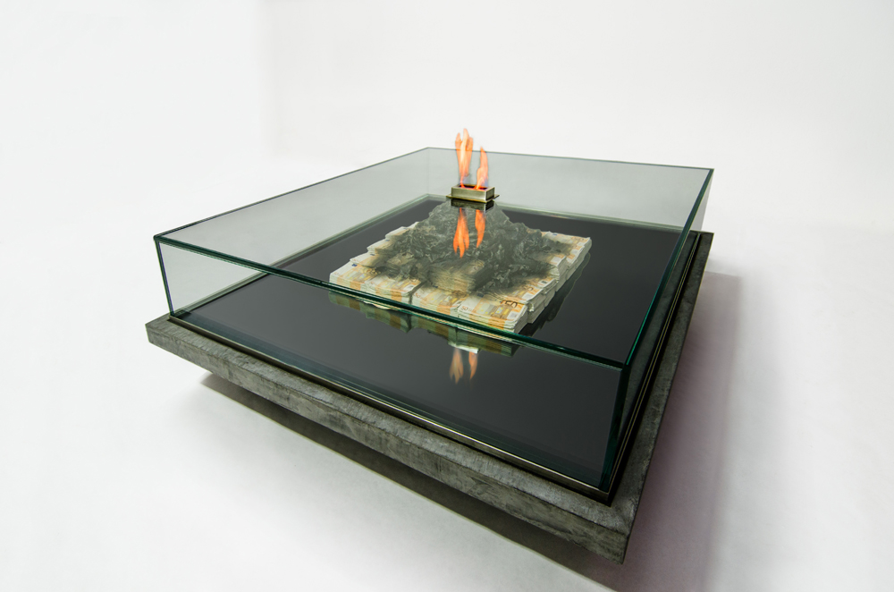Table of Money, sculpture table by Amarist studio & Alejandro Monje.