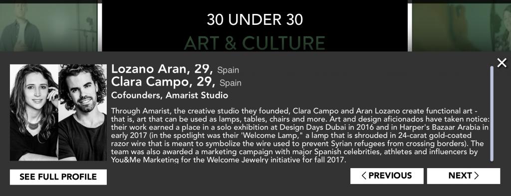 Amarist Bio - Forbes 30 under 30