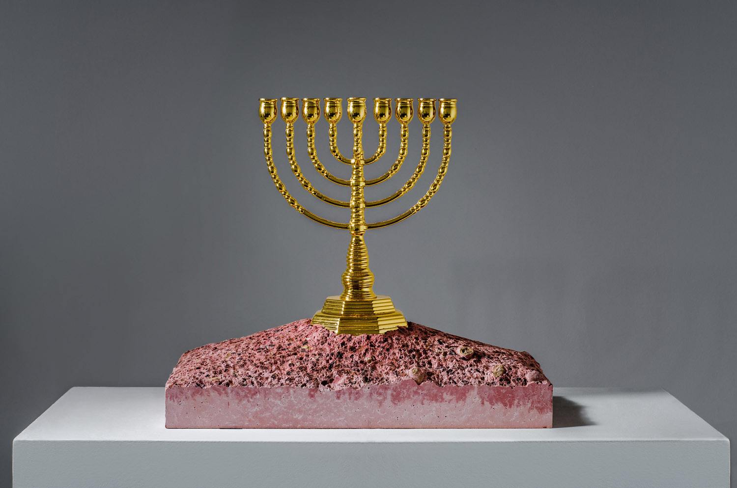 Exodus Menorah sculpture by Amarist studio