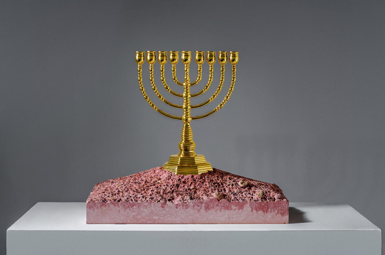 Exodus Menorah sculpture by Amarist studio