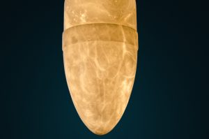 Sculpture lamp made with Alabaster stone by Amarist studio